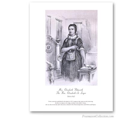 Elizabeth Aldworth Saint-Leger. The first woman freemason