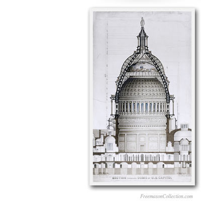 Capitol Dome Cross-section