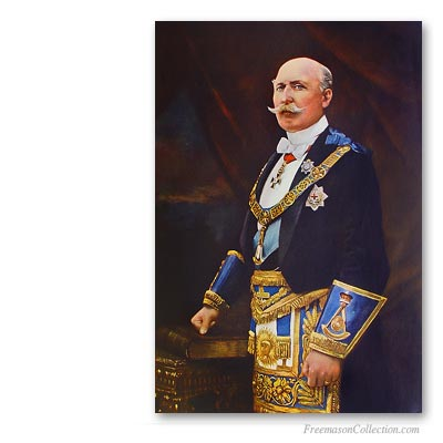 The Duke of Connaught wearing Grand Master Regalia. Masones Famosos. Masonería
